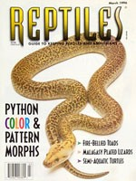 Reptiles Magazine - March 1996
